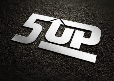 5up logo mockup