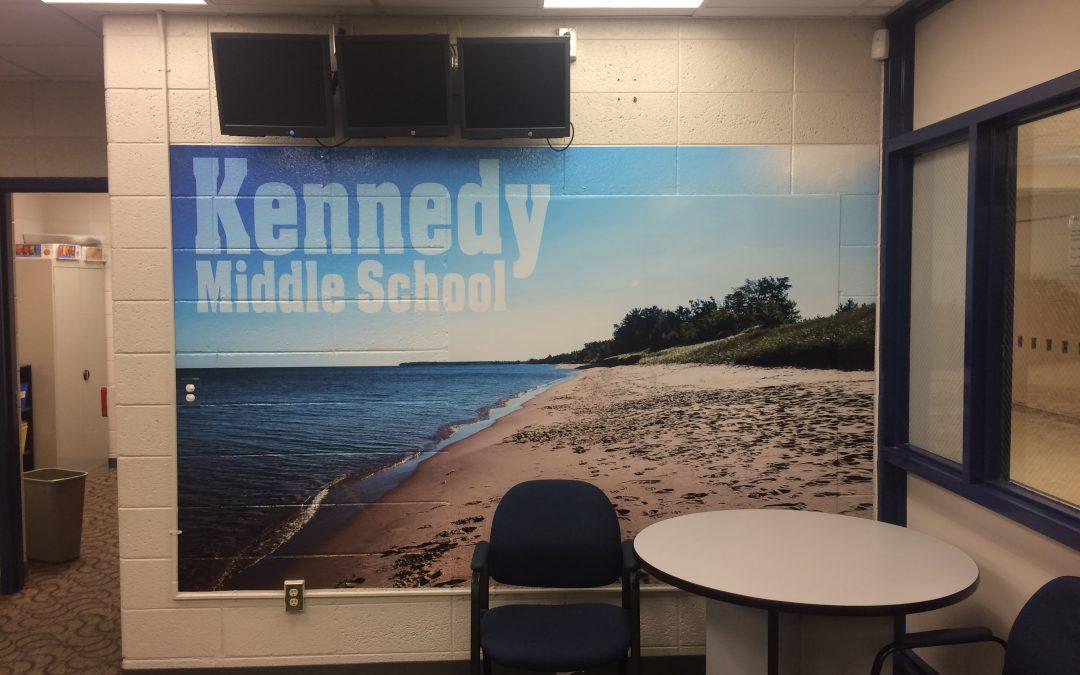 Kennedy Middle School Office Mural