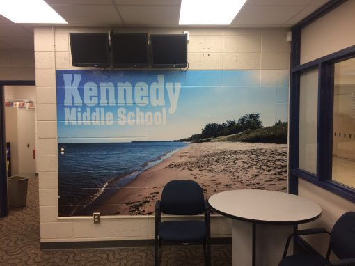 Kennedy Middle School Office Mural