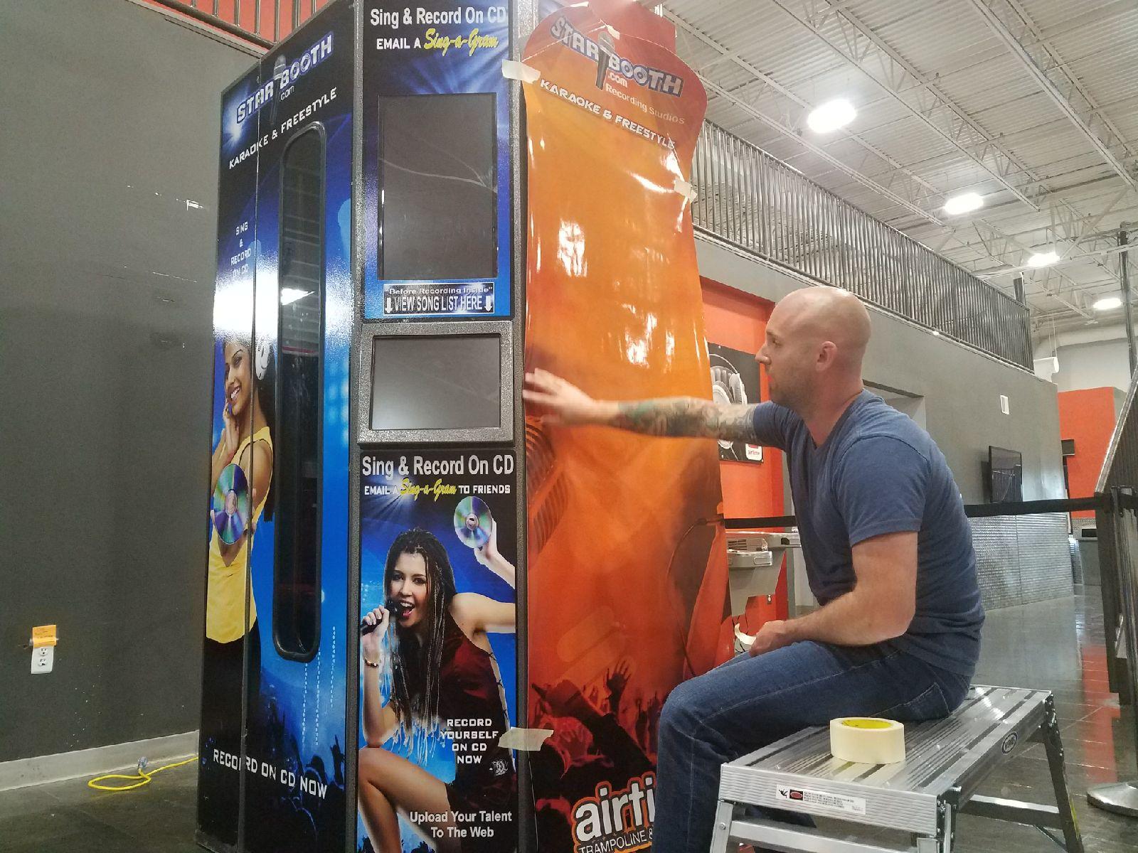 Airtime Karaoke Booth - before