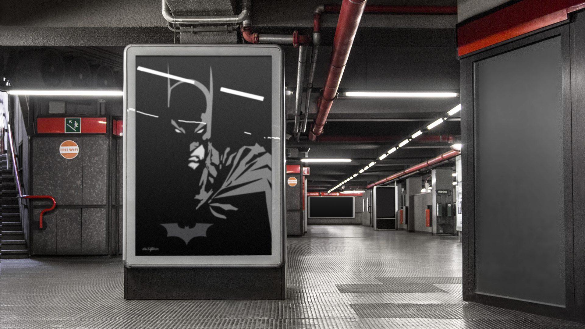 Art by DAK - Vector Batman Mockup 02