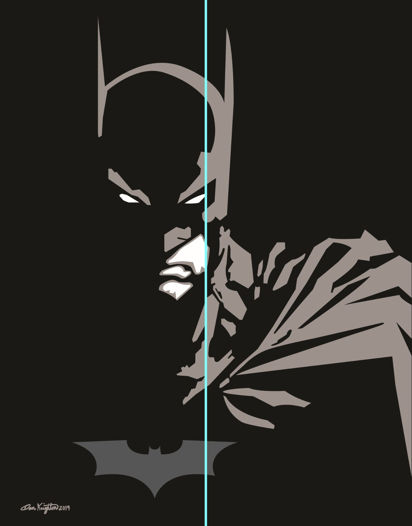 Art by DAK - Vector Batman