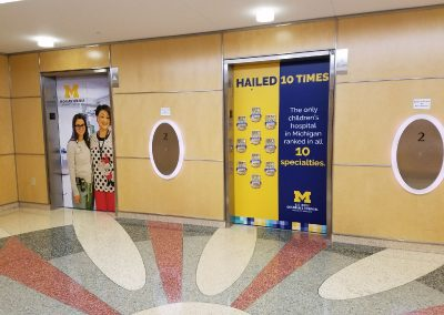 CS Mott Childrens Hospital Elevators - after