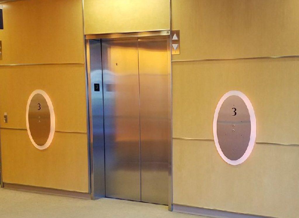 CS Mott Childrens Hospital Elevators - before