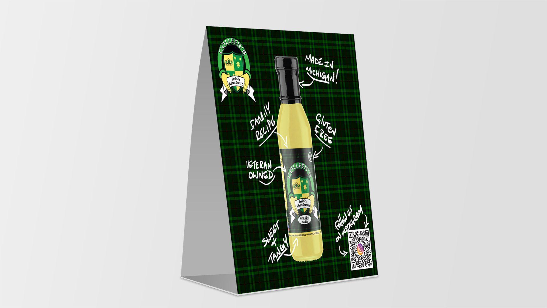 Colleens Irish Mustard - Shelf Talker Mockup