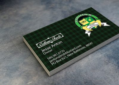 Colleens Mustard - Business Card Mockup 2