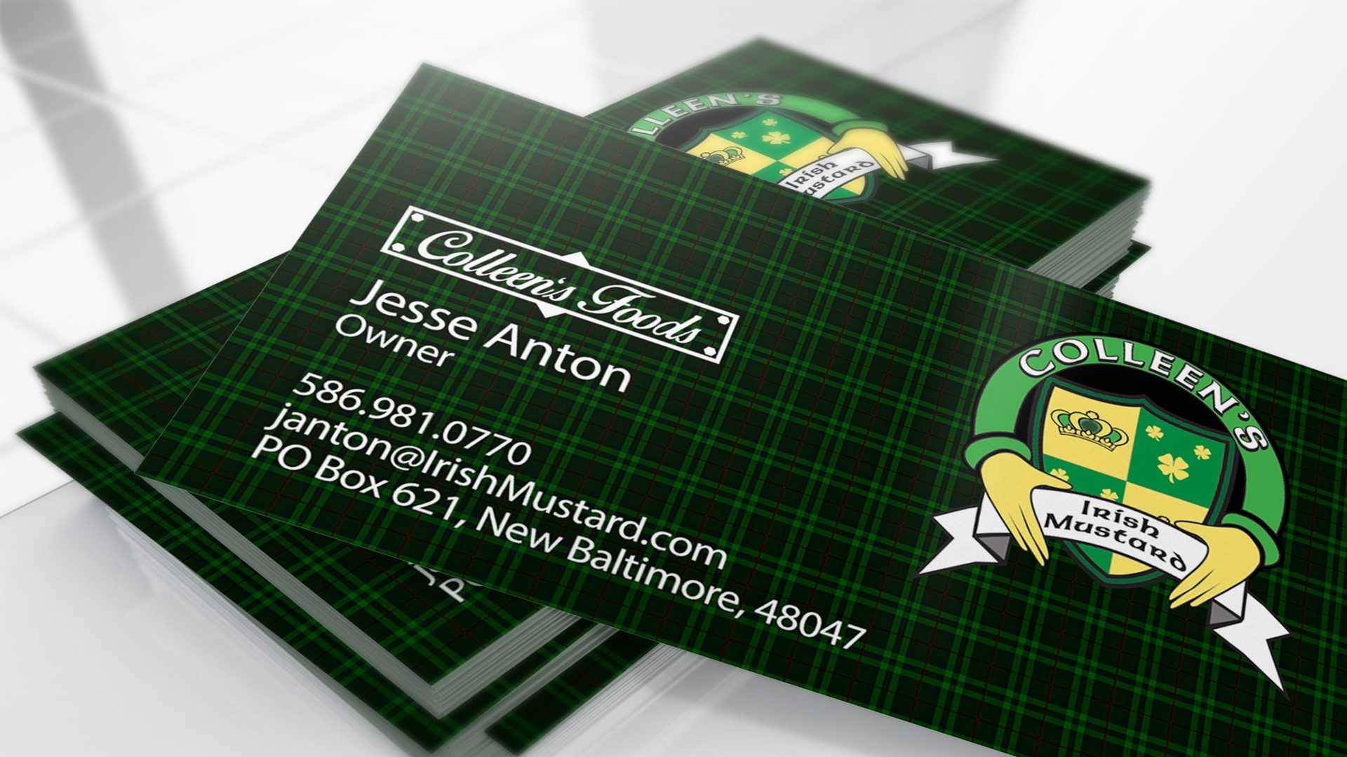 Colleens Mustard - Business Cards