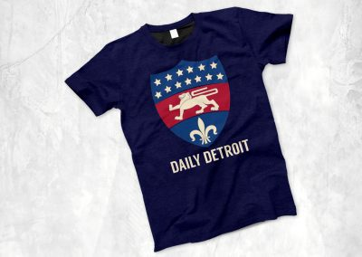 Daily Detroit - Silkscreen Shirt Mockup 04