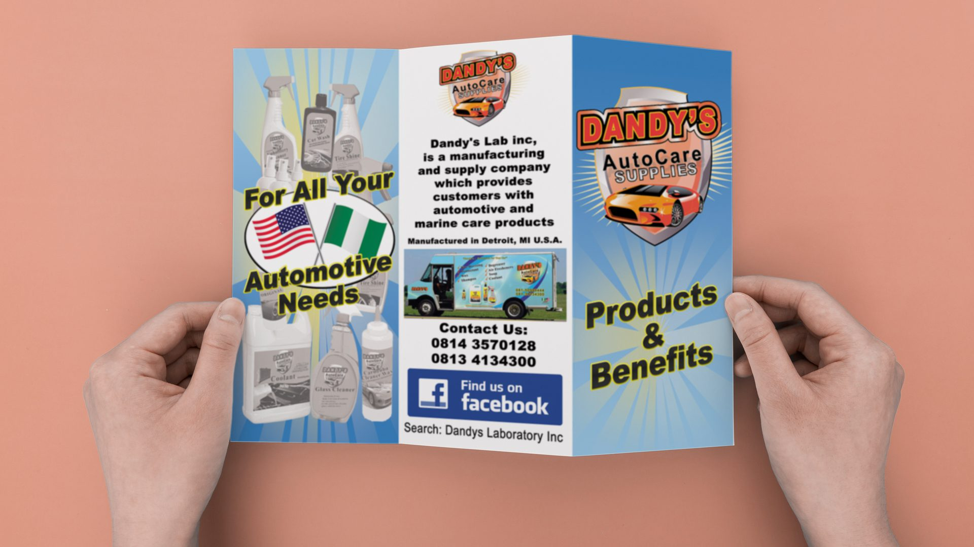 Dandy's Auto - Trifold Mockup 01