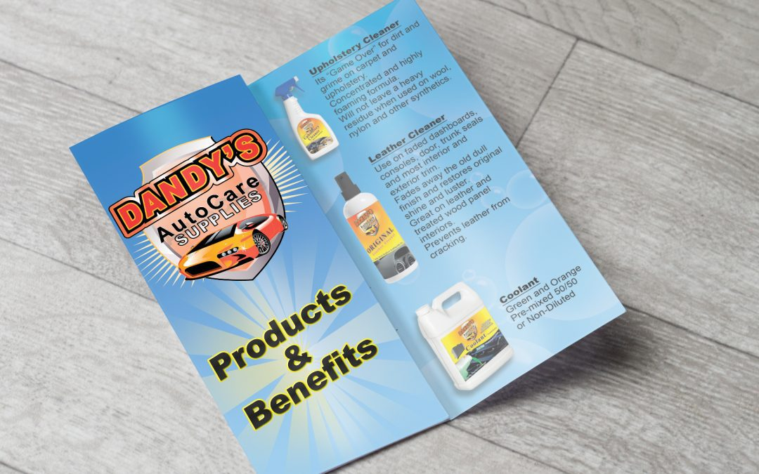 Dandy's Auto – Trifold Artwork and Printing