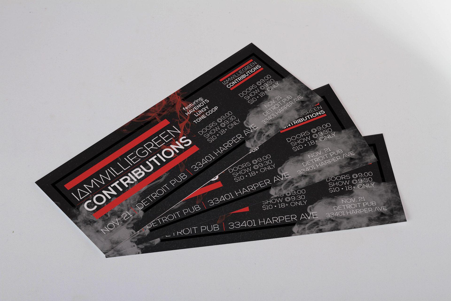 Detroit Pub - Event Tickets with Stub Mockup 02