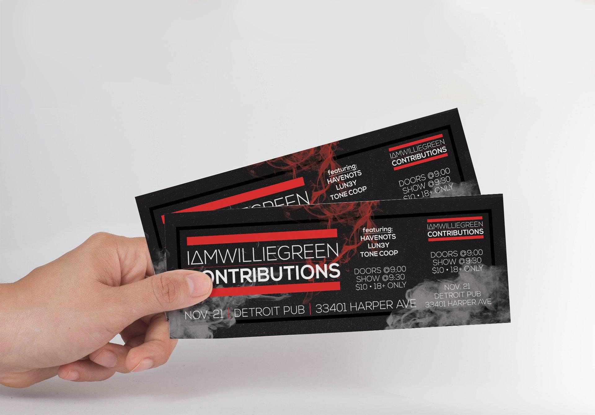 Detroit Pub - Event Tickets with Stub Mockup 03