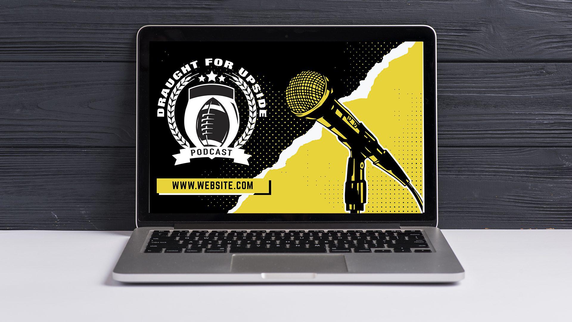 Draught for Upside – Logo Computer Mockup 01