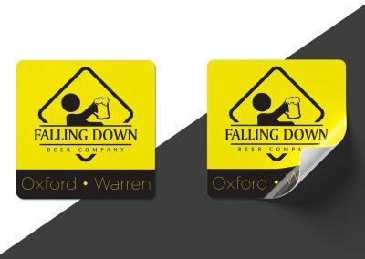 Falling Down Beer – Logo Decal Mockup 01