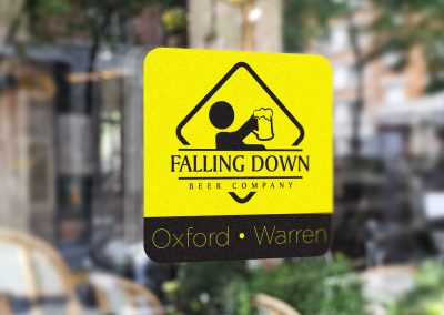 Falling Down Beer – Logo Decal Mockup 03
