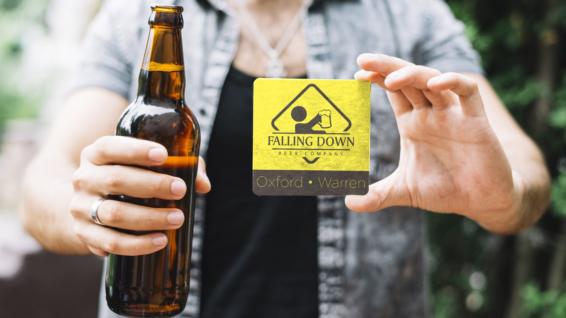 Falling Down Beer – Logo Decal Mockup 04