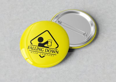 Falling Down Beer – Pins Mockup 01
