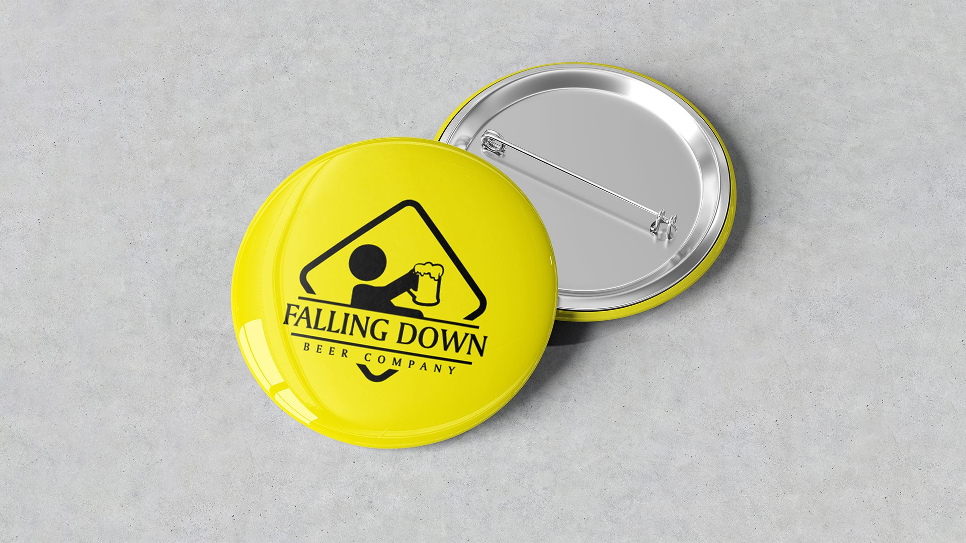 Falling Down Beer – Pins Mockup 01