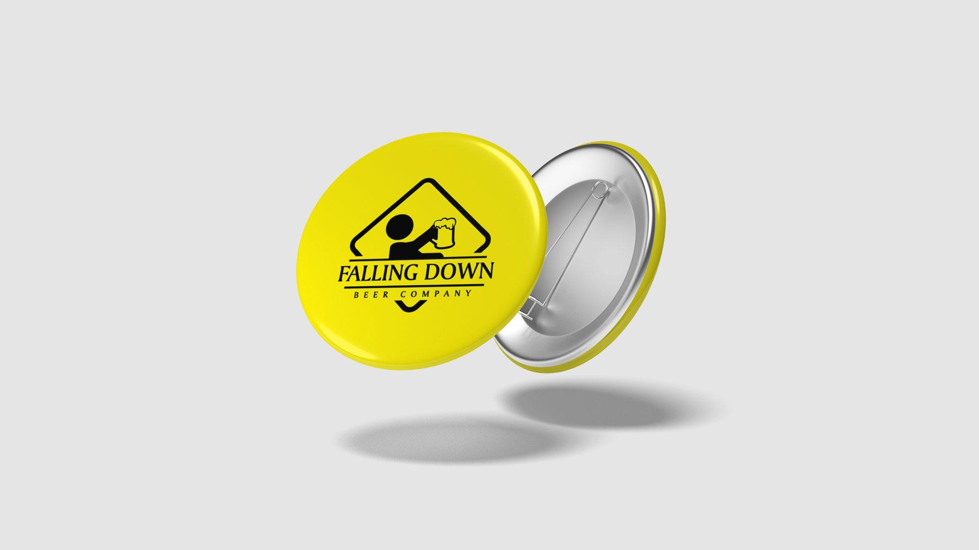 Falling Down Beer – Pins Mockup 02