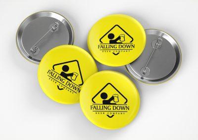 Falling Down Beer – Pins Mockup 04