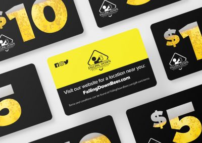 Falling Down Beer Co – Gift Cards Mockup 02