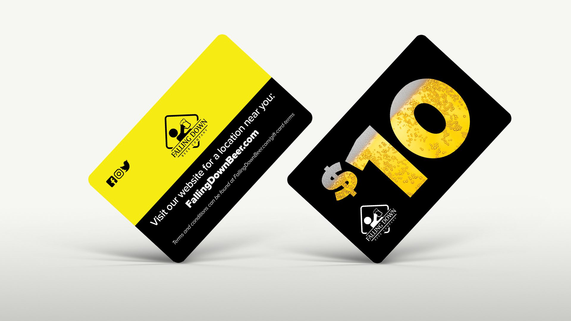 Falling Down Beer Co – Gift Cards Mockup 04