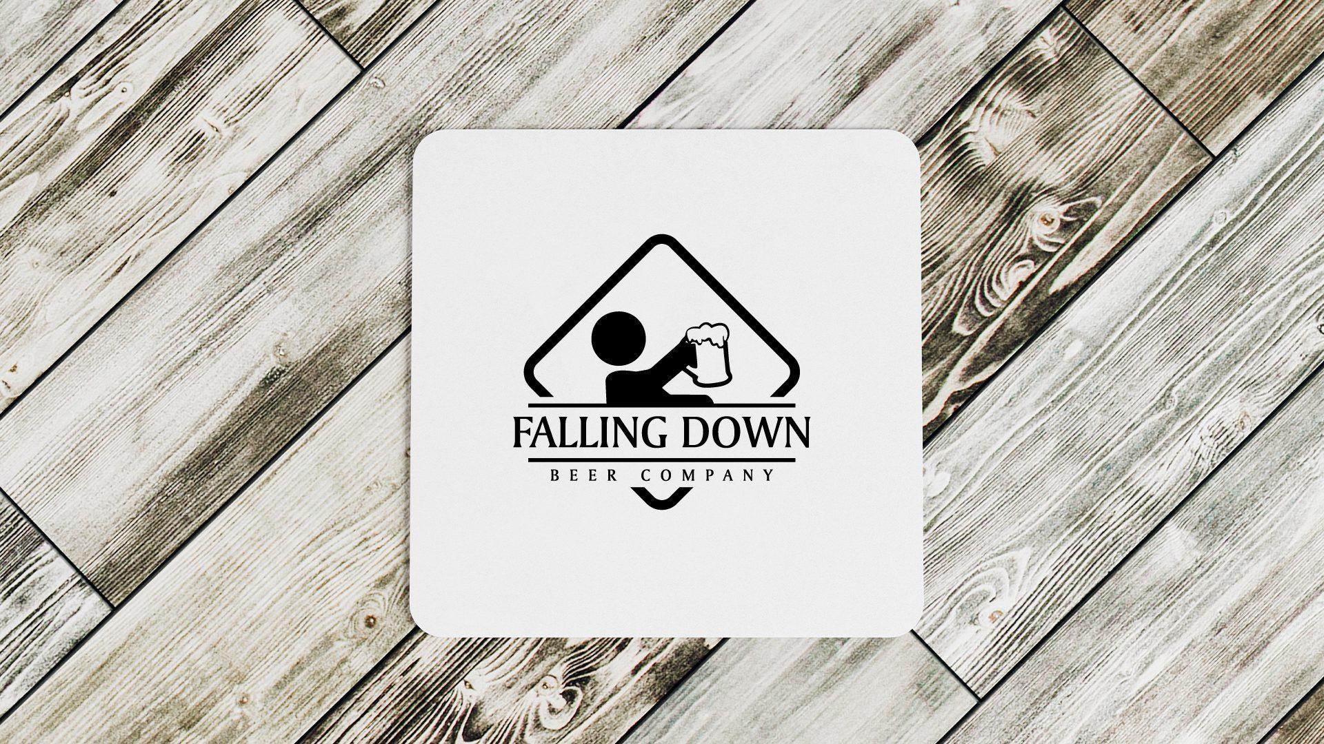 Falling Down Beer Company - Coasters Mockup 01