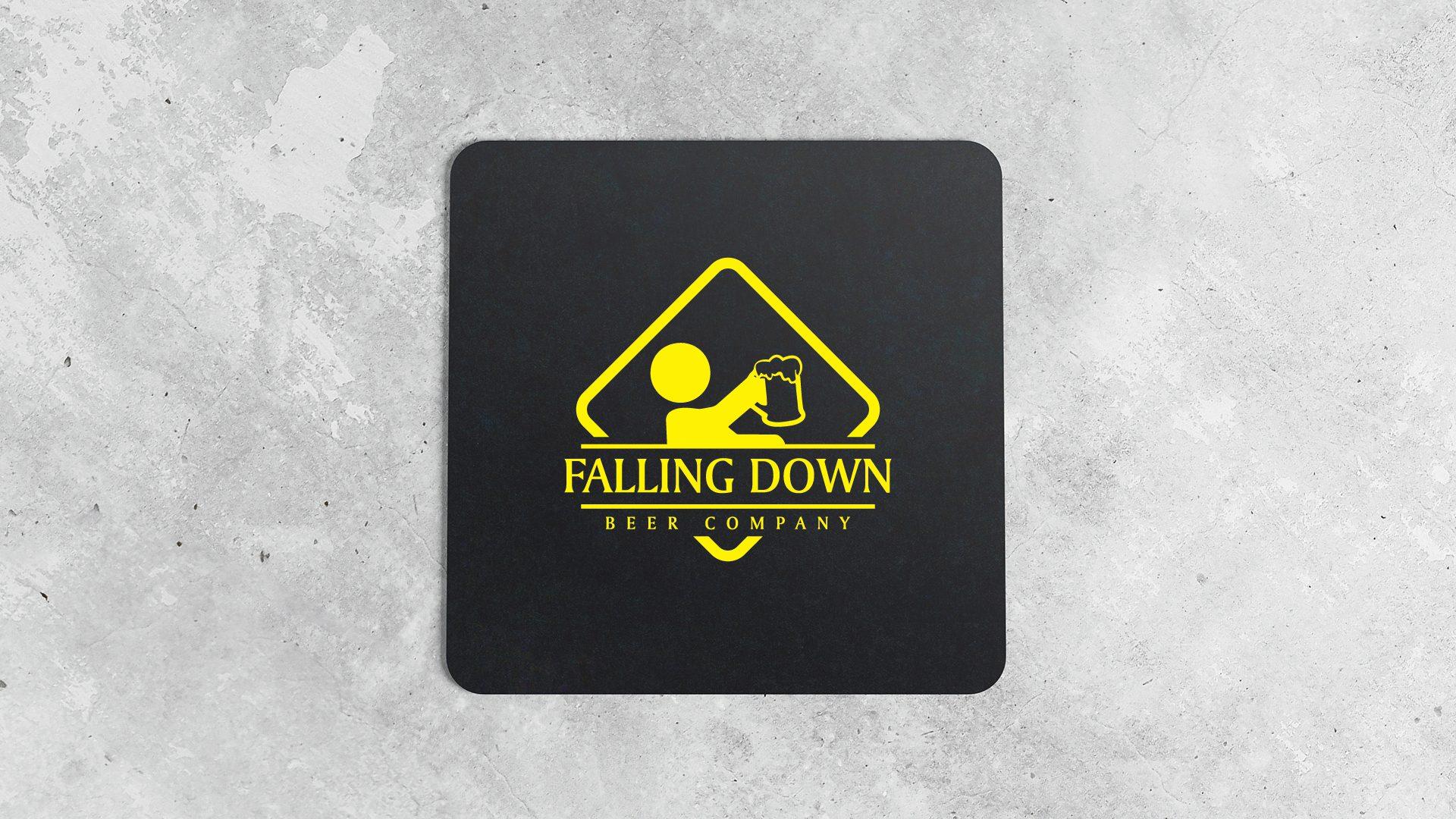 Falling Down Beer Company - Coasters Mockup 02
