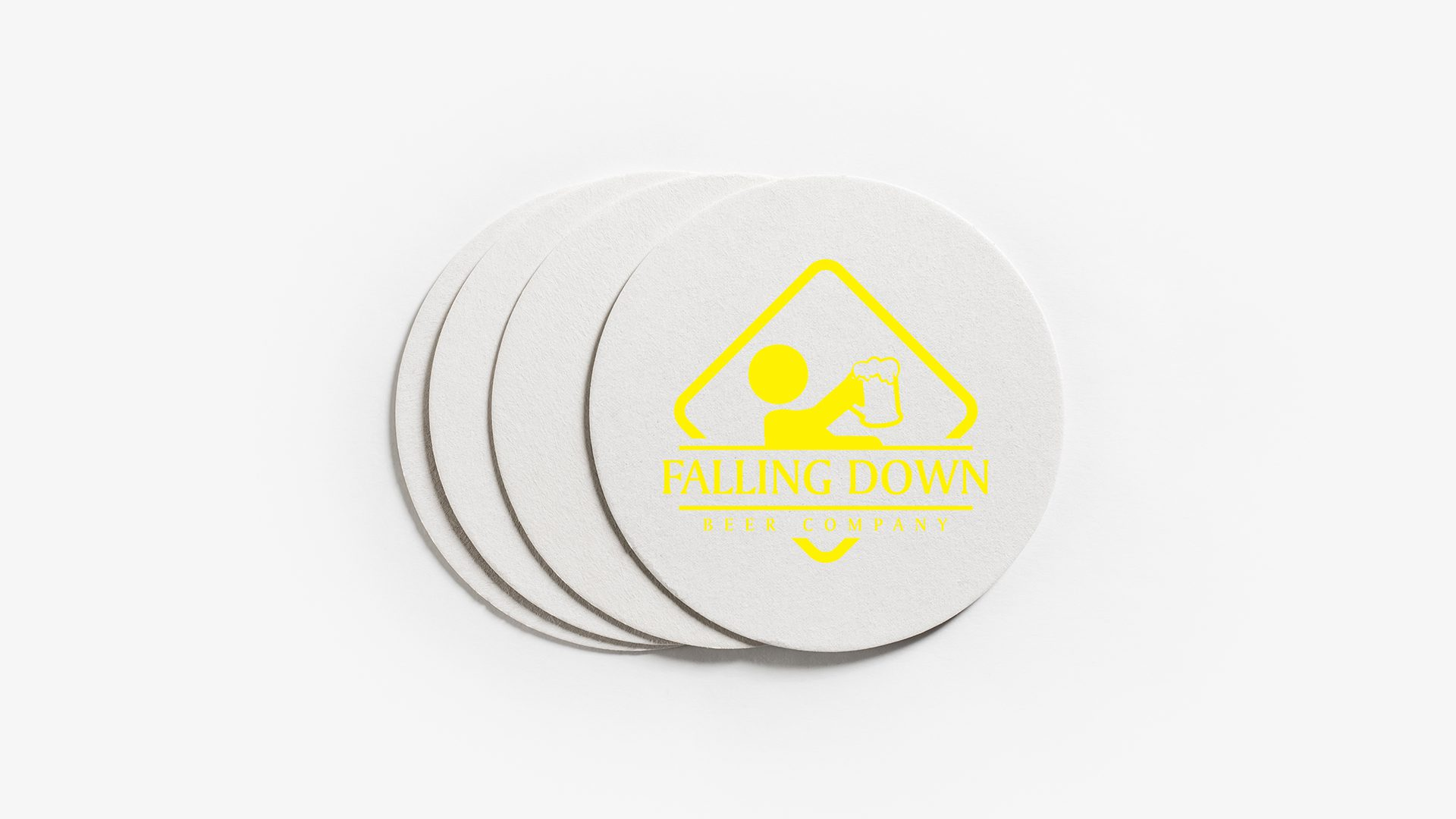 Falling Down Beer Company - Coasters Mockup 03