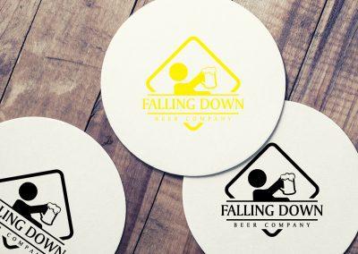 Falling Down Beer Company - Coasters Mockup 04