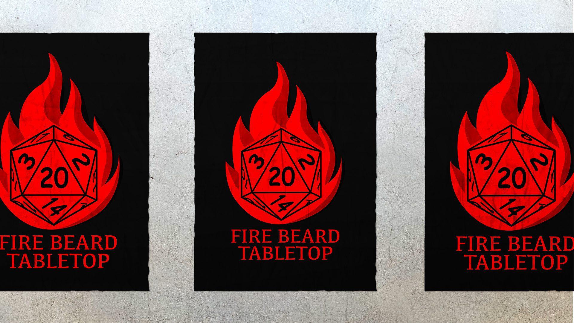 Fire Beard – Logo Concept Mockup 01