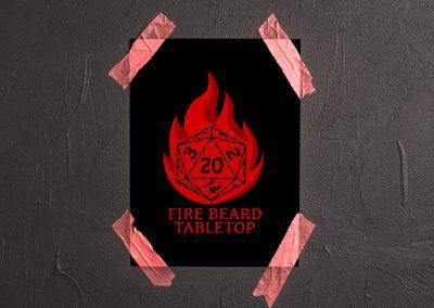 Fire Beard – Logo Concept Mockup 04