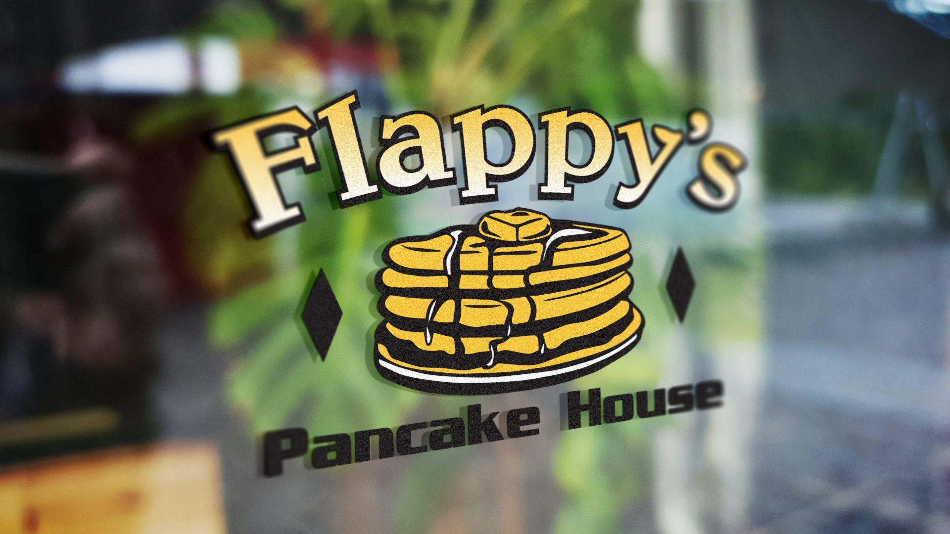 Flappys Pancake House – Logo Mockup 02