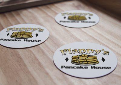 Flappys Pancake House – Logo Mockup 04