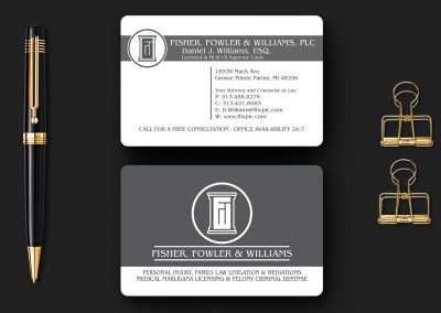 Fowler and Williams – Matte Business Card with Rounded Corners Mockup 02
