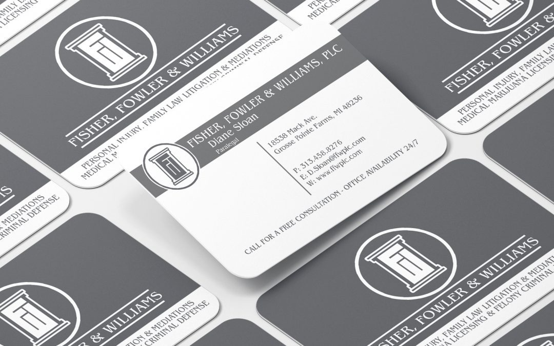 Fowler and Williams – Matte Business Card with Rounded Corners
