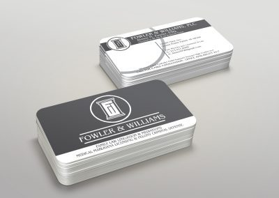 Fowler and Williams - matte Business Card with Rounded Corners