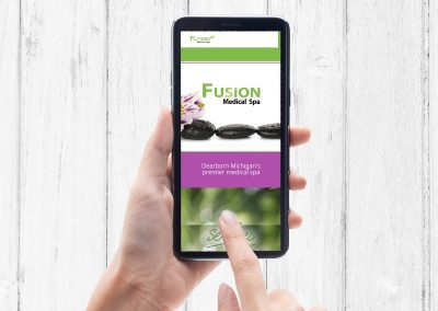 Fusion Spa - Website mockup 01