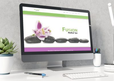 Fusion Spa - Website mockup 02