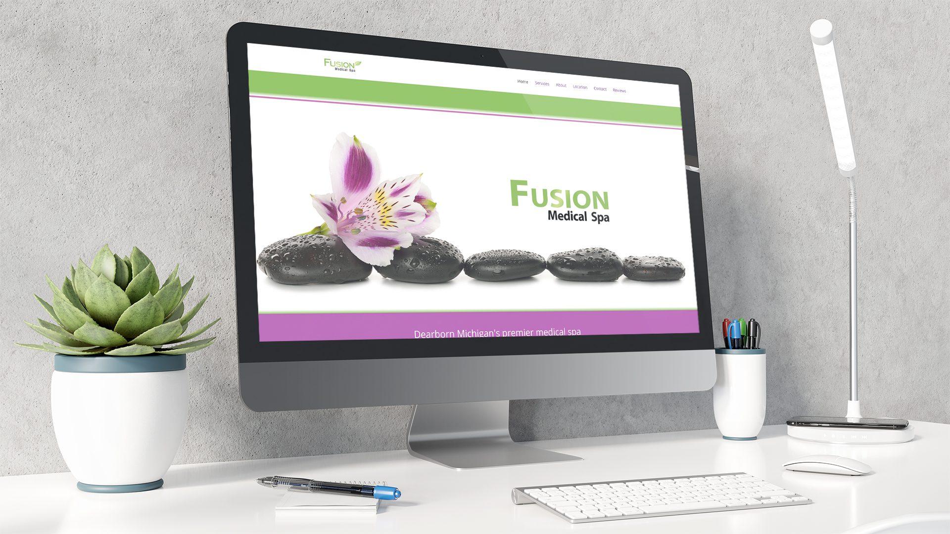 Fusion Spa - Website mockup 02
