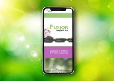 Fusion Spa - Website mockup 03