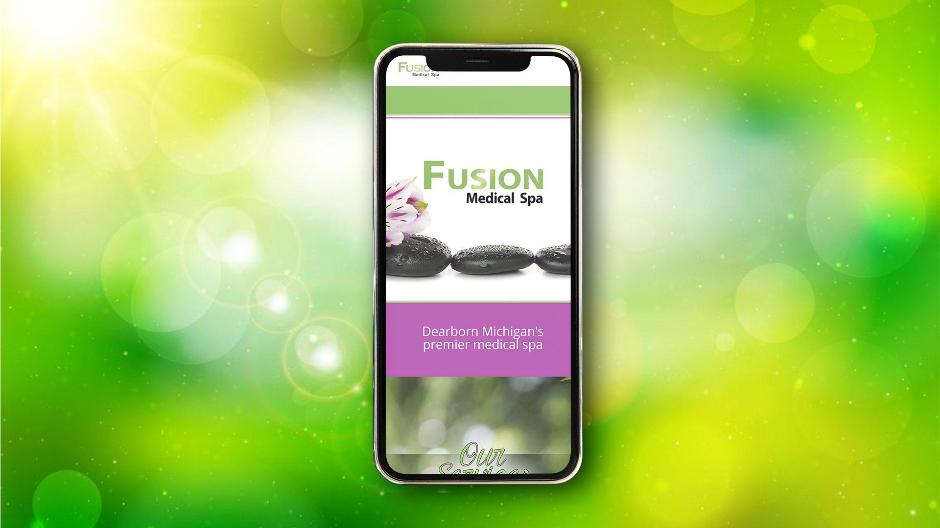 Fusion Spa - Website mockup 03