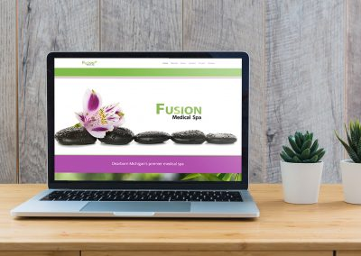 Fusion Spa - Website mockup 04