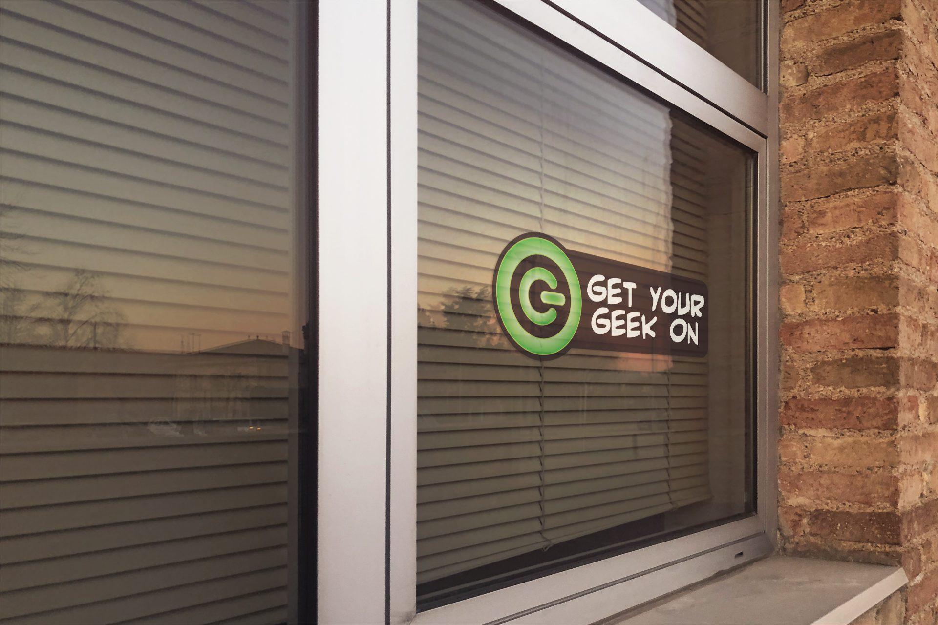 Get Your Geek On - Die-cut Sticker Mockup 02