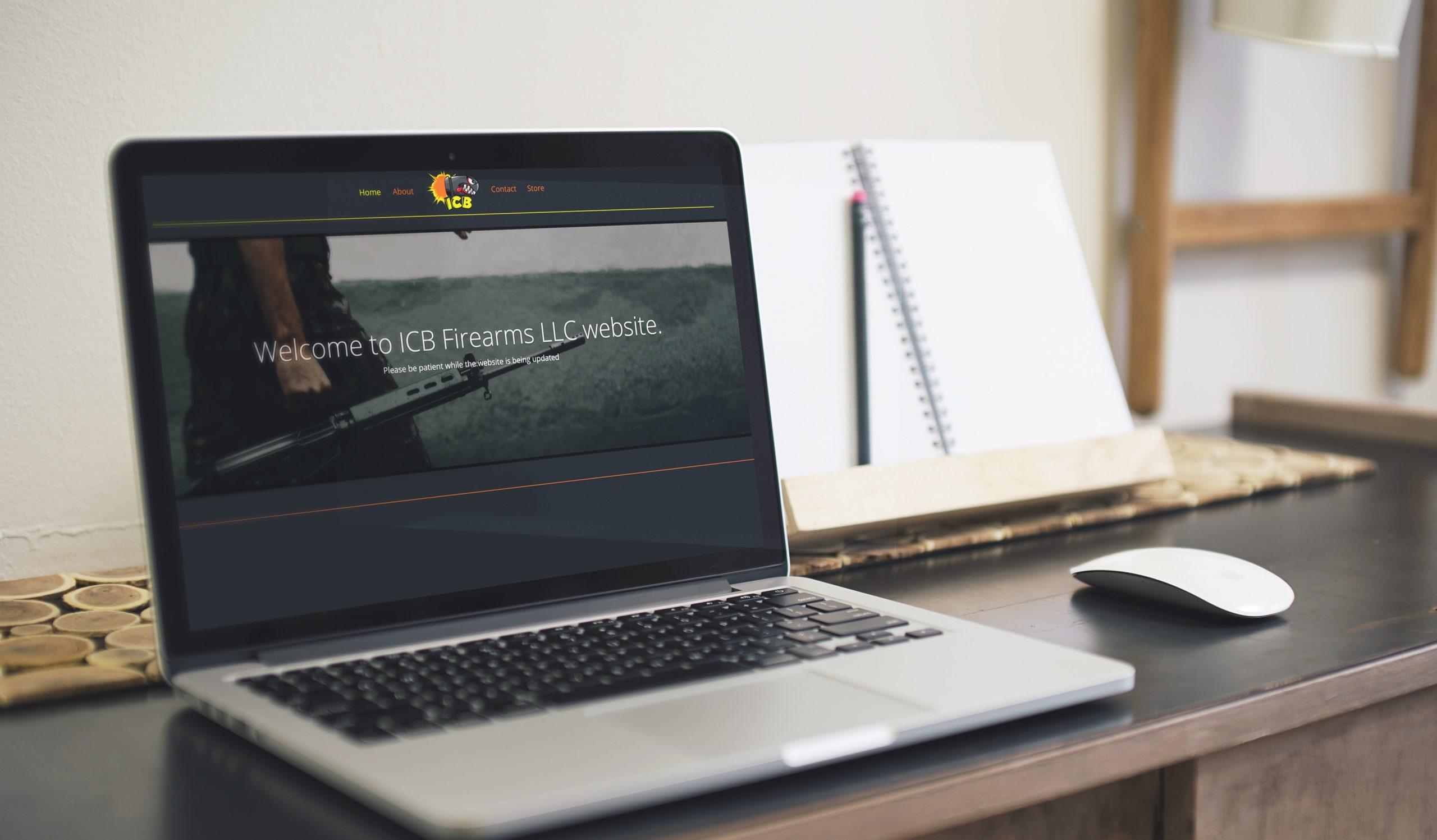ICB Firearms - Website Mockup 01