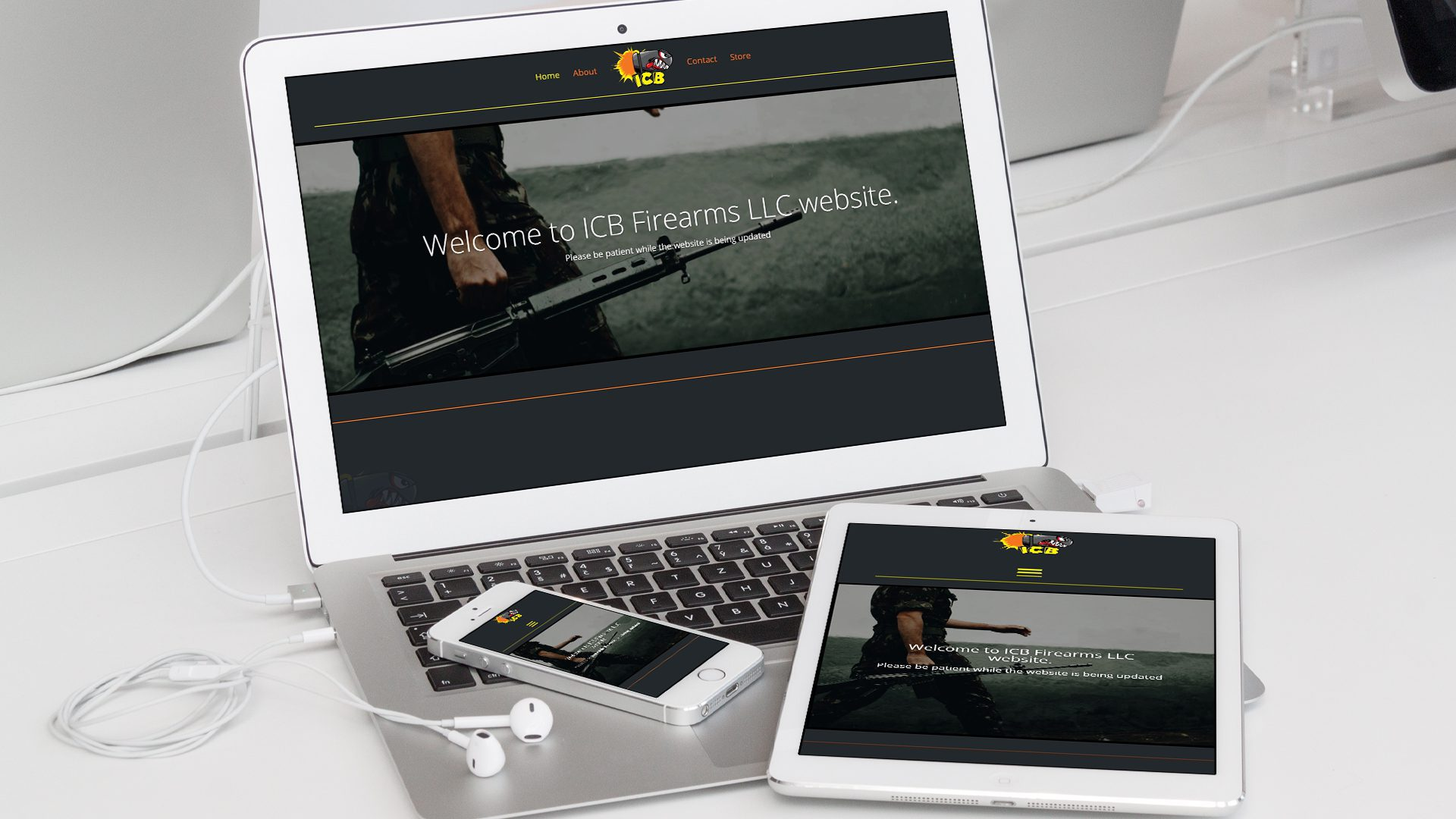 ICB Firearms - Website Mockup