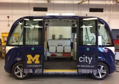 M-City Navya Shuttle Full Wrap