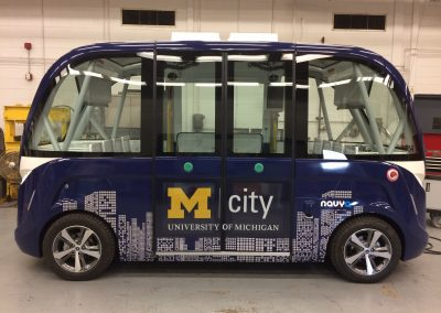 M-City Navya Shuttle Full Wrap