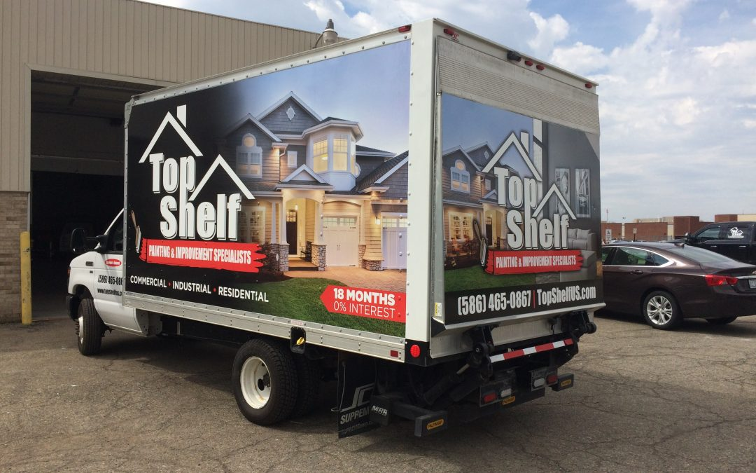 Top Shelf -E-350 Box Truck Wrap