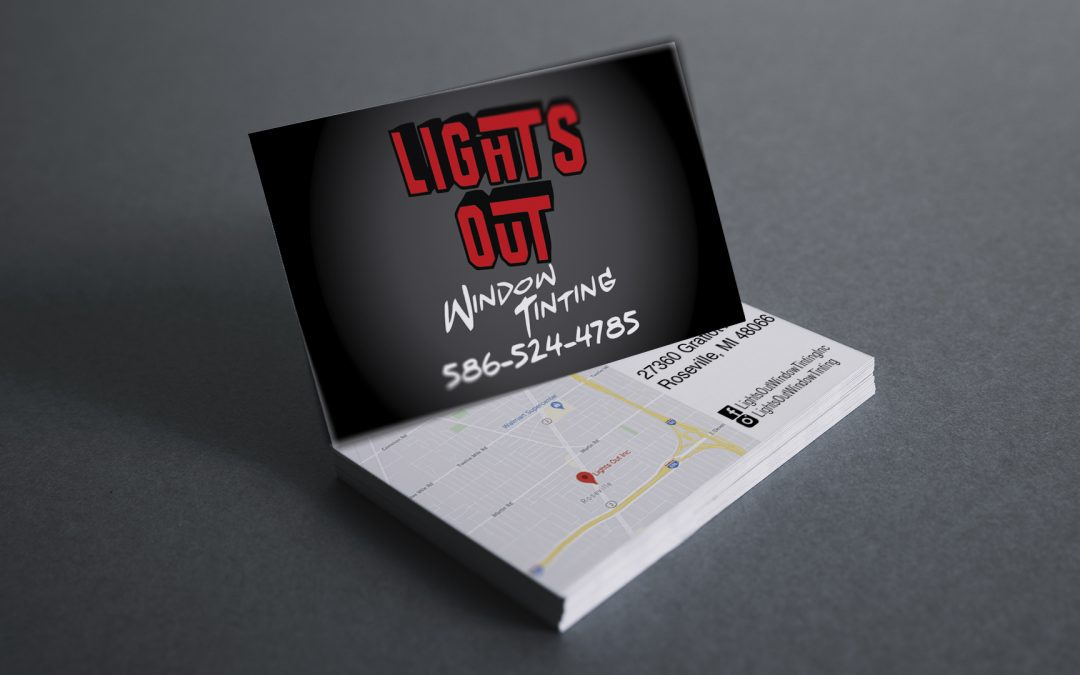 Lights Out Window Tinting – Business Card